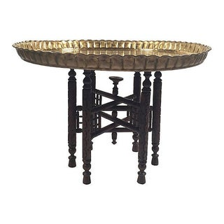 Moroccan Brass Tray Top Table