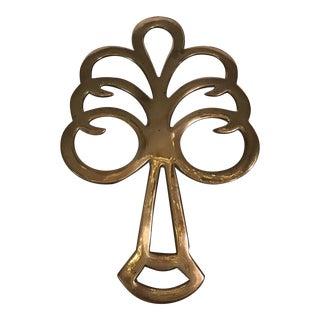 Mid-Century Modern Brass Tree Trivet