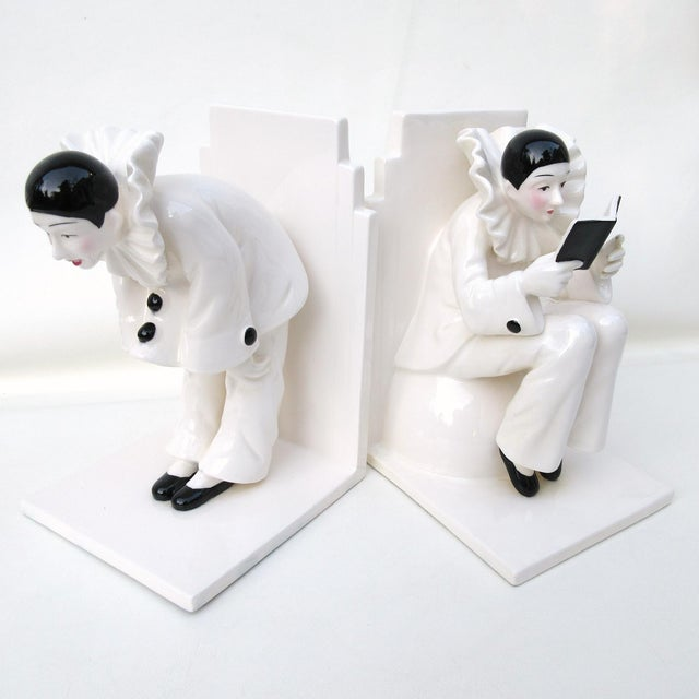 Art Deco Ceramic Mime Bookends - A Pair - Image 3 of 7