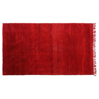 Moroccan Red Wool Rug - 10'5'' X 6'