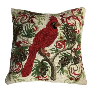 Red Cardinal Hook Pillow