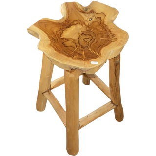 Teak Natural Wood Stool