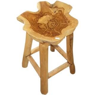 Teak Natural Wood Stool