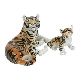 Lomonosov Russian Porcelain Tigers - Pair