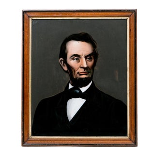 Lincoln Portrait on Glass