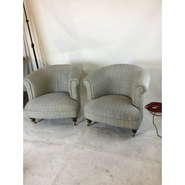 Mid-Century Club Chairs and Ottomans - 4 Pieces - Image 3 of 6