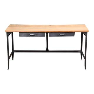 Vintage Industrial, American Made, Steel, Metal & Wood Student Work Desk