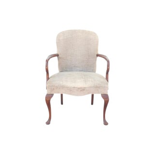 Queen Anne Style Gray Armchair