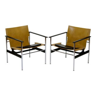 Charles Pollock for Knoll Model 657 Chairs - Pair
