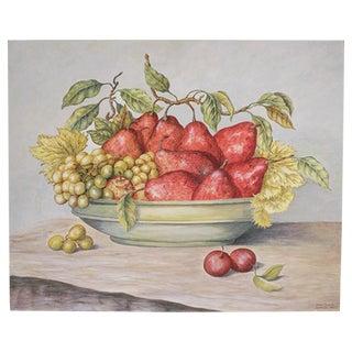 Bowl of Pears Original Acrylic Painting