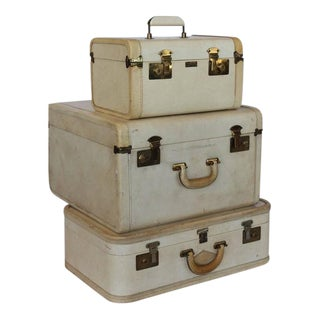 Stylish Vintage Vellum Suitcases