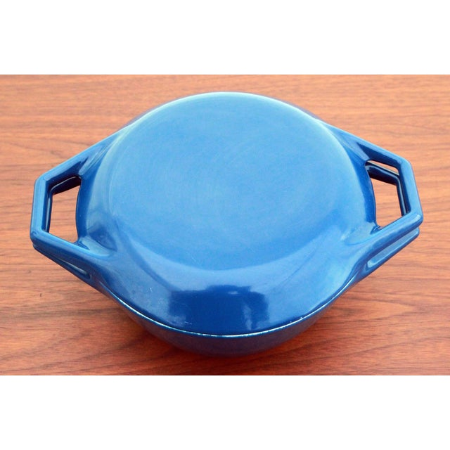 Vintage Blue Michael Lax for Copco Danish Modern Cast Iron Dutch Oven - Image 3 of 8