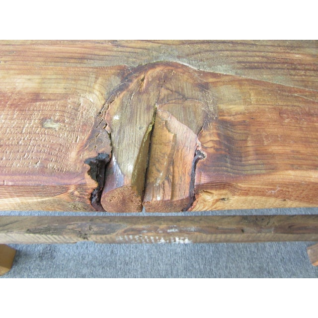 Rustic Reclaimed Pine Peg-Jointed Coffee Table - Image 11 of 11