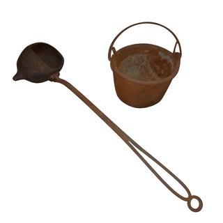 Monroe's Iron Pour Casting Ladle & Bucket