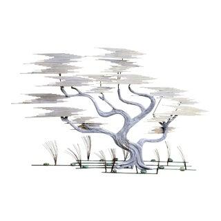 Curtis Jere Mid-Century Modern Bonzai Tree Wall Sculpture