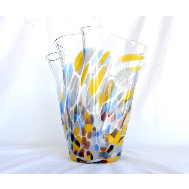 Sculptural Hand-Blown Handkerchief Vase - Image 5 of 6