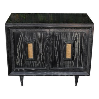 Ebony Cerused Wood Cabinet