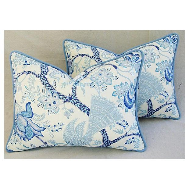 Designer Stroheim Jaidee Blue/White Pillows - Pair - Image 3 of 8