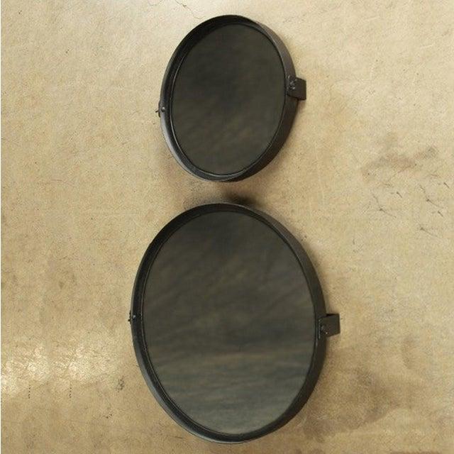 Round Pivot Iron Mirror - Image 6 of 6