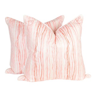 Bassett McNab Pink Squiggle Pillows - a Pair