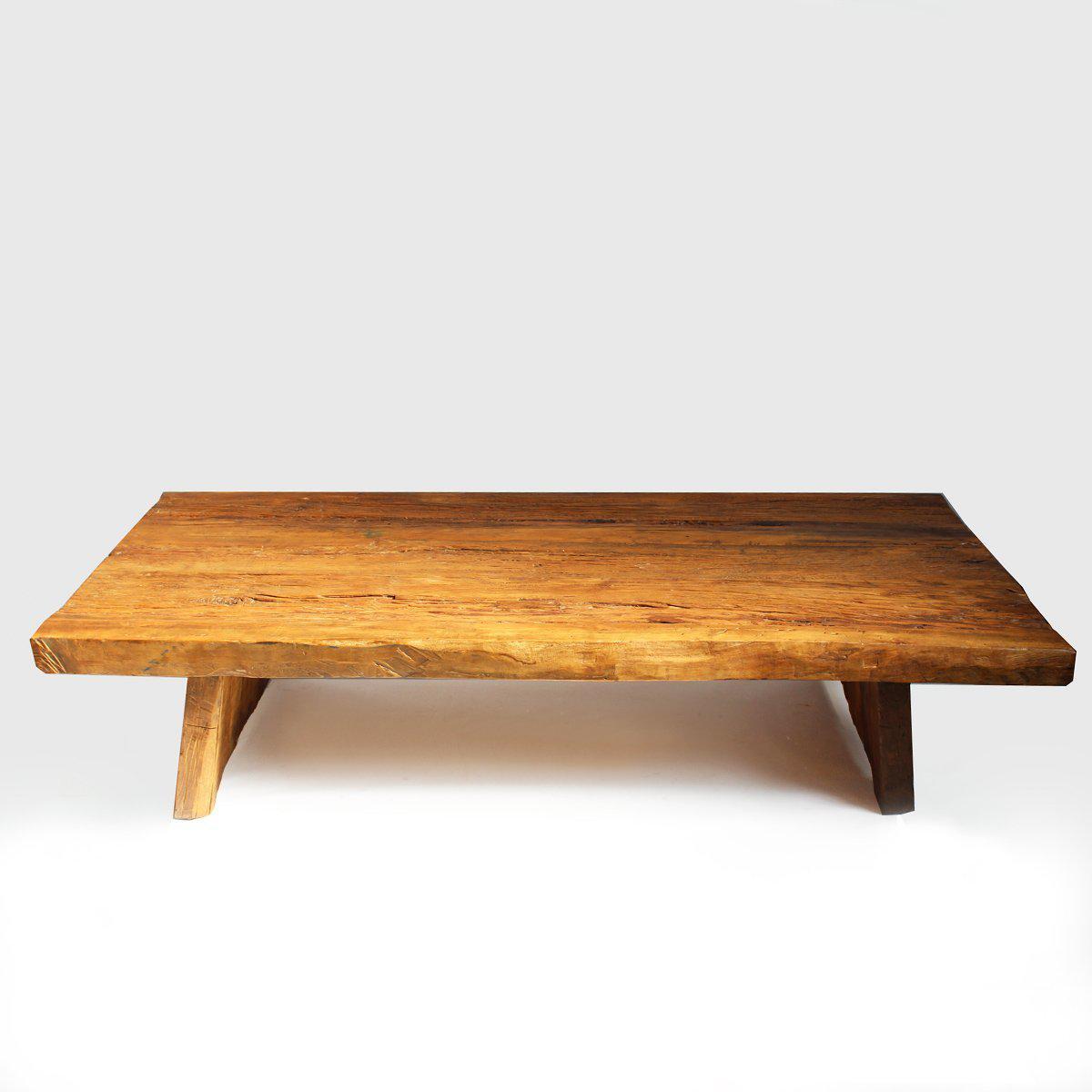 Slab Coffee Table: Elm Slab Coffee Table