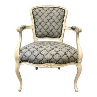 Vintage Reupholstered Side Armchairs