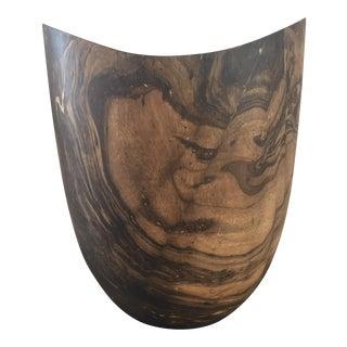 Mid-Century Marbled Wood Vase
