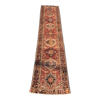 "70-Year-Old Vintage Persian Karajeh Runner - 3'3"" x 14'"