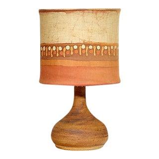 1960s Glit Island Iceland Pottery Lamp