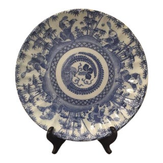 Antique Chinese Blue & White Export Porcelain Side Plate