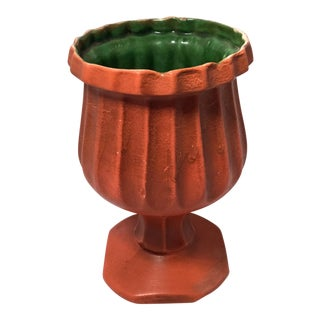 Vintage Orange and Green Planter