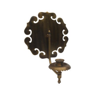 Chinoiserie Lotus Wall Candle Sconce