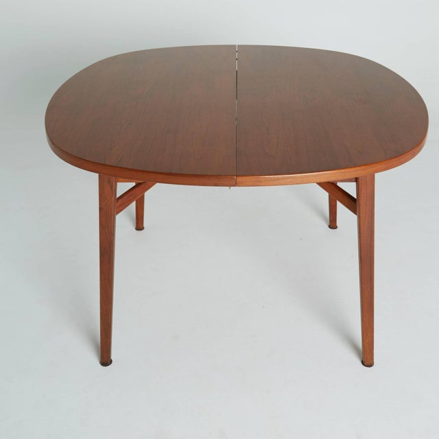 jens risom round expandable dining table chairish