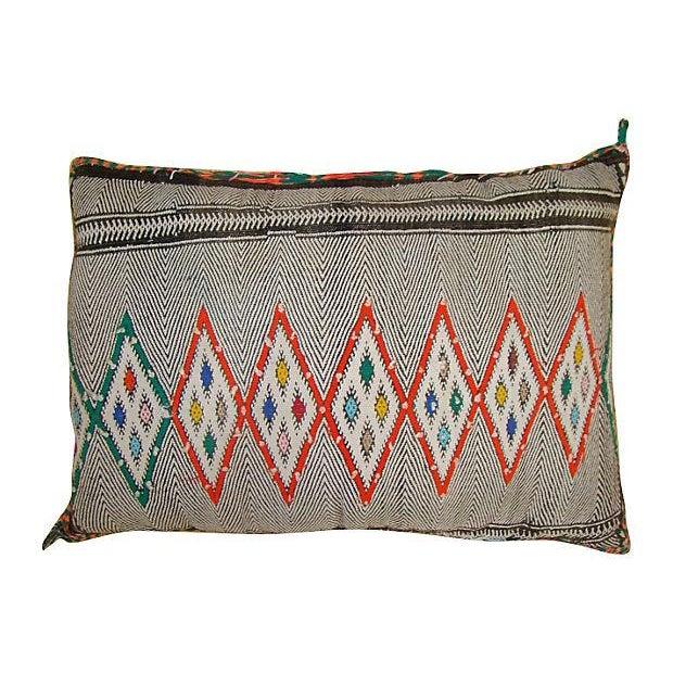 Orange Diamond Patterned Moroccan Sham Pillow - Image 1 of 2