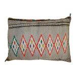 Image of Orange Diamond Patterned Moroccan Sham Pillow