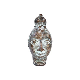 African Tribal Bronze Benin Head