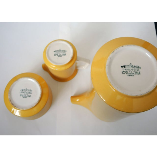 Image of Vintage Mikasa Coffee Set with Platter
