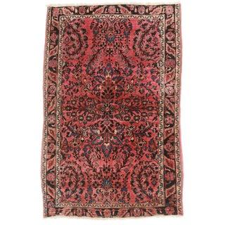 """RugsinDallas Antique Persian Sarouk Rug - 3'4"""" X 5'"""