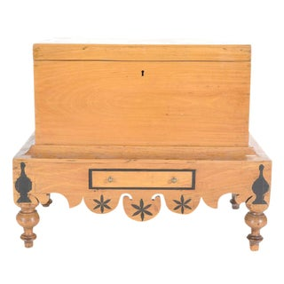 Antique Dutch Colonial Chest On Stand