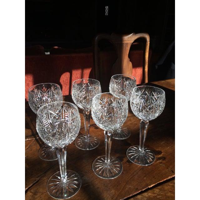 Waterford Crystal Stem Wine Hock Glasses - Image 4 of 4