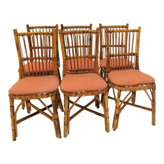 1960's Bamboo Dining Chairs - Set of 6