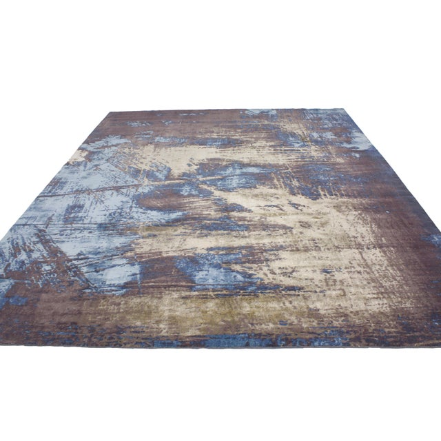 """Contemporary Abstract Scratch Texture Rug - 8'7"""" x 9'11"""" - Image 5 of 7"""