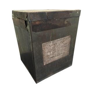 Antique 'Vanilline' Apothecary Tin Box