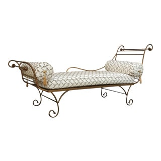 Gold Metal Chaise Lounge