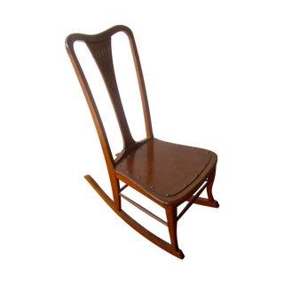 Antique Rocking Chair Farm Cabin Mountain Decor