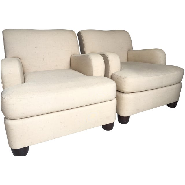 Barbara Barry by Henredon Club Chairs - A Pair - Image 1 of 11
