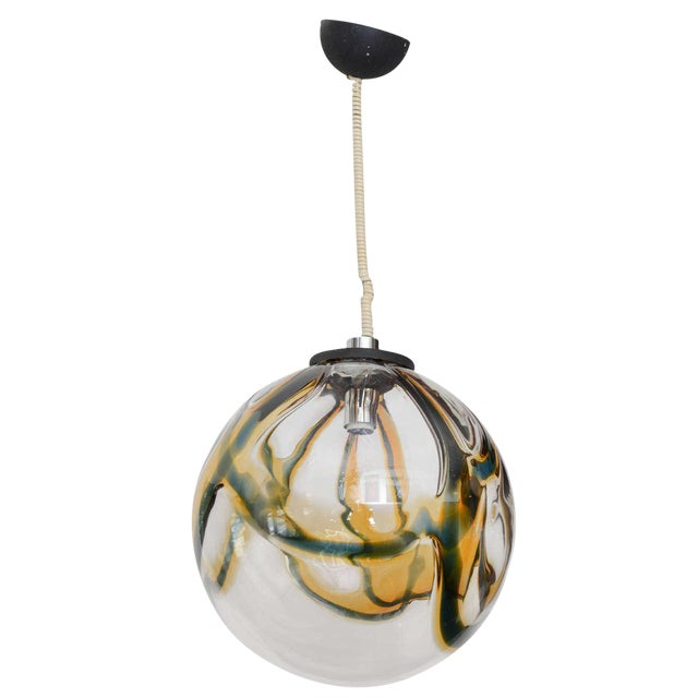 Gigantic Mazzega Murano Globe Hanging Light - Image 1 of 6