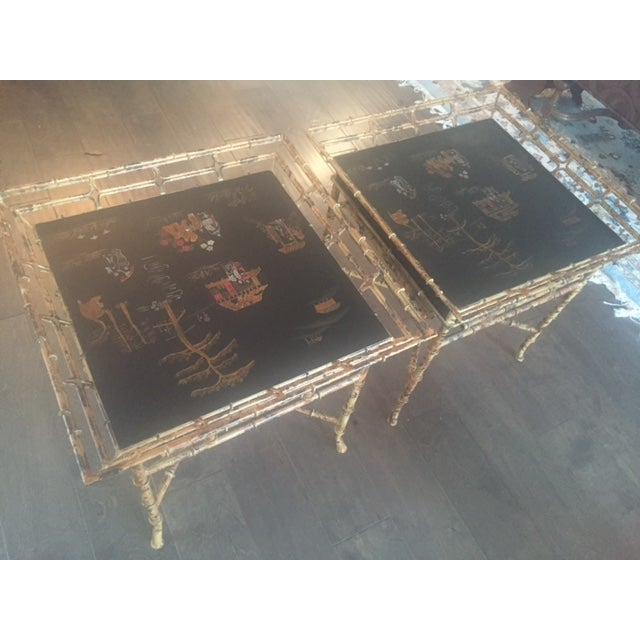 Vintage Chinoiserie Tables - A Pair - Image 3 of 10