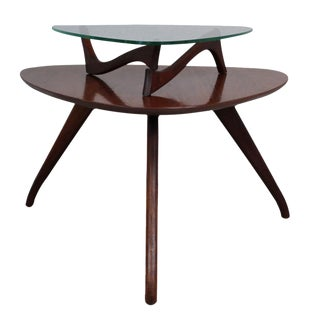 Vladimir Kagan-Style Two-Tier Side Table