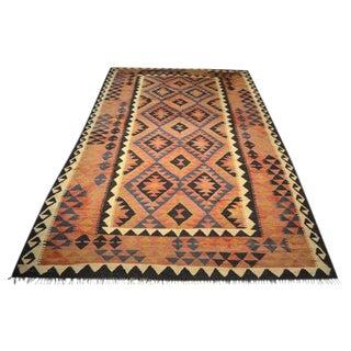 Vintage Afghan Kilim Rug - 5′11″ × 9′11″
